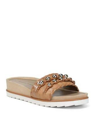 Donald J Pliner Carlie Leather Comfort Slide Sandals