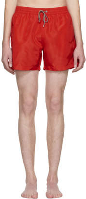 Paul Smith Red Classic Solid Swim Shorts