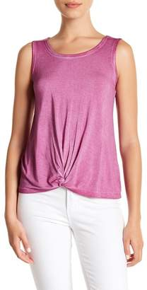 Cable & Gauge Front Twist Tank Top (Petite)