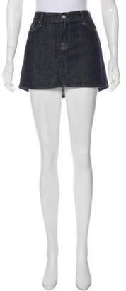 7 For All Mankind Seven Denim Mini Skirt