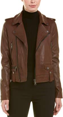 Bagatelle City Vintage Wash Leather Biker Jacket