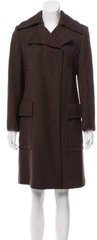 Gucci Wool Belt-Accented Coat