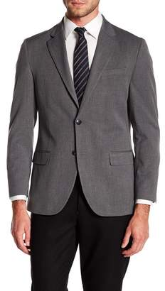 Nautica Sharkskin Notch Collar Blazer