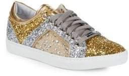 Alessandro Dell'Acqua Metallic Glitter Sneakers