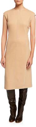 Agnona Sleeveless Platino Jersey Dress