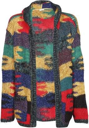 Saint Laurent Pattern Hooded Cardigan