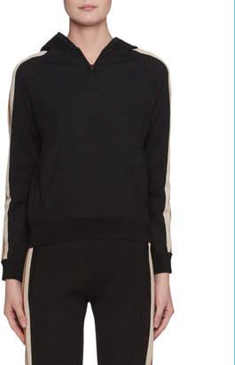 Etoile Isabel Marant Side-Stripe Pullover Sporty Knit Hoodie
