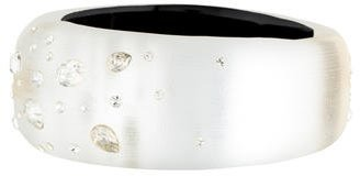 Alexis Bittar Lucite Crystal Hinged Bangle Bracelet $95 thestylecure.com