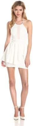Lovers + Friends Lovers+Friends Women's Kiss and Tell Fit and Flare Dress with Lace Detail