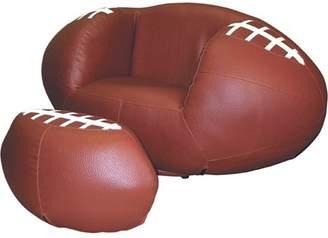 Ore International Football Chair and Ottoman Set