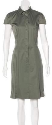 Akris Punto Short Sleeve Collared Dress