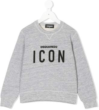 DSQUARED2 icon logo print sweatshirt