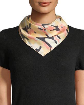 Jane Carr Camouflage Silk Twill Neckerchief