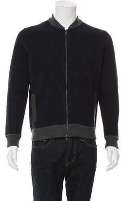 Vince Wool Zip-Front Sweater