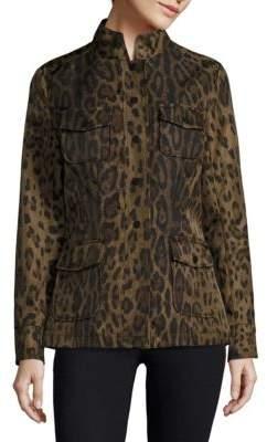 Jane Post Leopard-Print Safari Jacke