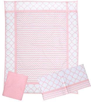 Trend Lab Pink Sky 3 Piece Crib Bedding Set