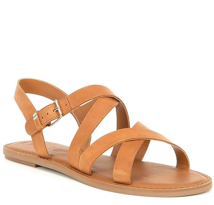 Toms Sicily Leather Strappy Sandals