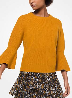 Michael Kors Wool Bell-Cuff Pullover