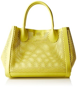 Steve Madden Bperfie Perforated Bag in Bag Handbag Yellow/Pewter $83 thestylecure.com