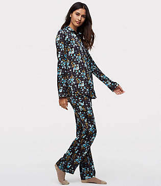 LOFT Winter Garden Silky Pajama Top