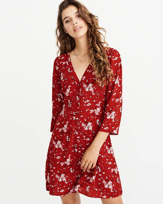 Abercrombie & Fitch Long-Sleeve Button-Up Dress