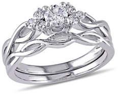 HBC CONCERTO 0.5CT Diamond 14K White Gold Infinity Bridal Set