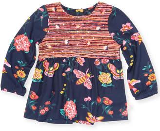 Billieblush Floral Sequined Shirt