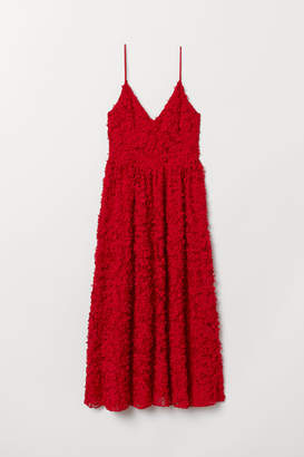 H&M Dress with Appliques - Red
