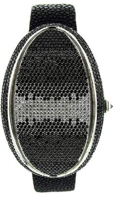 Marco Mavilla Oval One Ref#1277 Black and White Diamond LED watch