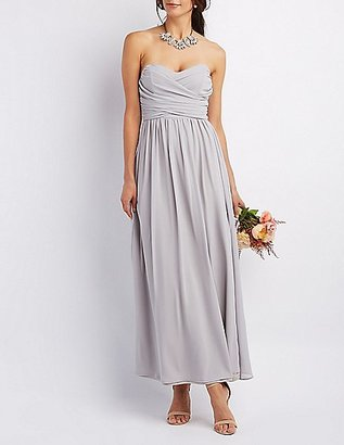 Ruched Strapless Maxi Dress $35.99 thestylecure.com