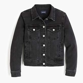 J.Crew Petite classic denim jacket in black