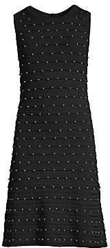 MICHAEL Michael Kors Women's Scalloped Embellished Tank Dress