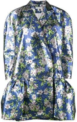 DELPOZO Floral Jacquard Coat