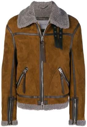 Lanvin shearling aviator jacket