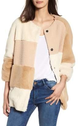 BCBGeneration Patchwork Faux Fur Jacket