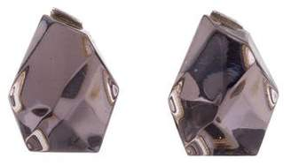 Baccarat Crystal Rock Stud Earrings