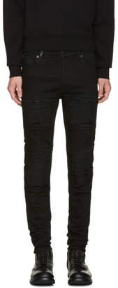 Marcelo Burlon County of Milan Black Gil Biker Jeans