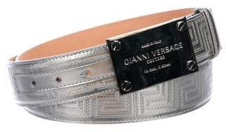 Versace Metallic Greca Belt