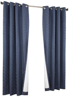 Thermalogic Iron Gate Geometric Max Blackout Grommet Single Curtain Panel