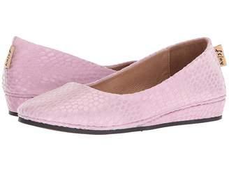 French Sole Zeppa Flat Women's Slip on Shoes
