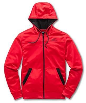 Alpinestars Men's Full Zip Hooded Sweatshirt Modern Fit 240 GSM Motorsports Poly Fleece