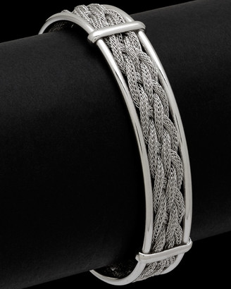 Italian Silver Multi-Strand Weaved Wheat Chain Cuff