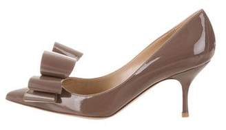 Valentino Couture Bow Pointed-Toe Pumps