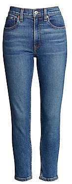 RE/DONE Women's High-Rise Ankle Crop Comfort Stretch