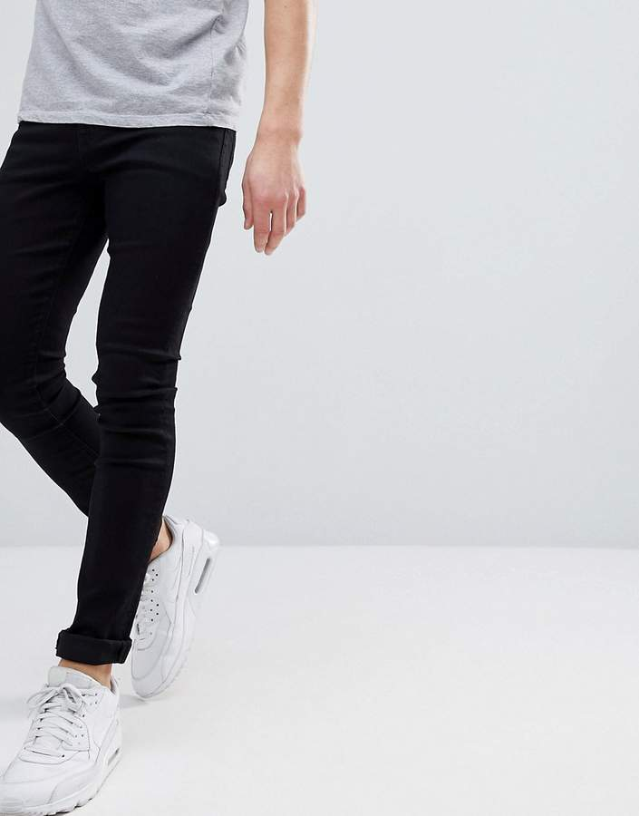 ASOS Super Spray On Jeans In Washed Black
