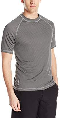 ZeroXposur Men's Short Sleeve UPF 50+Solid Dri Fit Rashguard