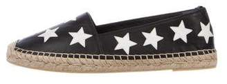Saint Laurent Star Leather Espadrilles w/ Tags