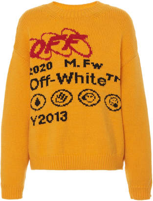 66dcf620e1f878 Off-White Off White C/O Virgil Abloh Indust Y013 Bonded Knit Crewneck