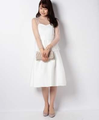 form forma 【結婚式・ウエディングドレス】ドットチュールインナー付き フレアショートウェディングドレス