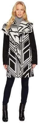 Vince Camuto Cascading Wool Coat N8511 Women's Coat
